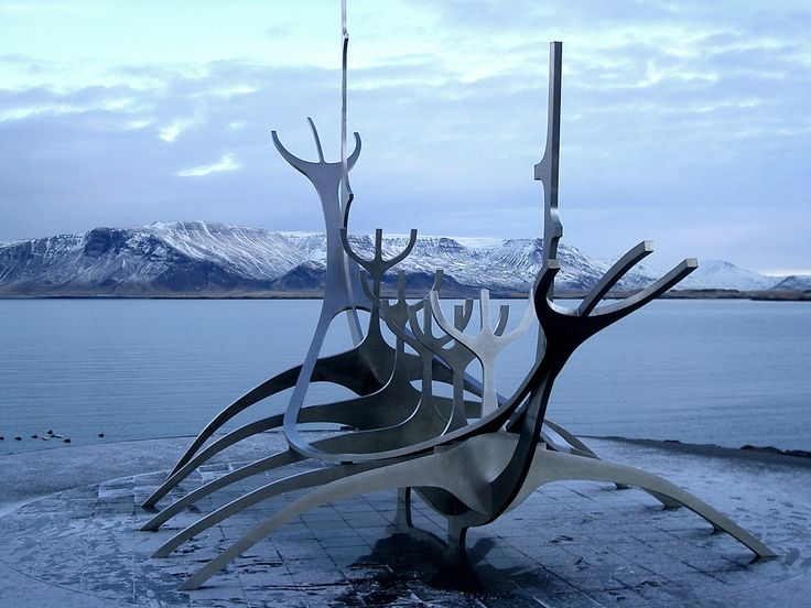 Viking sculpture. Reykjavík, Iceland