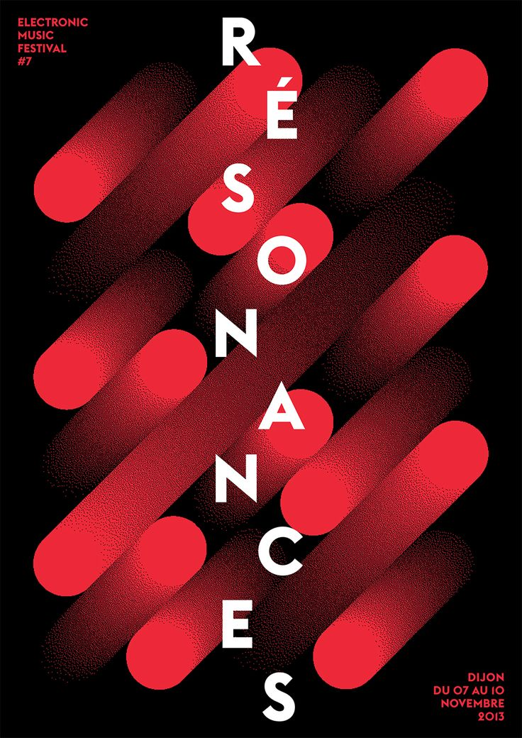 typeonly:  Résonances, poster submitted and designed by Atelier Tout va bien (Mathias Reynoird & Anna Chevance,2013) –Type OnlyUnit Editions