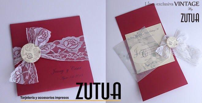 Tzutuha,Tarjetería y accesorios exclusivos para eventos sociales ..: Nueva Línea de Zutua * BODA VINTAGE *