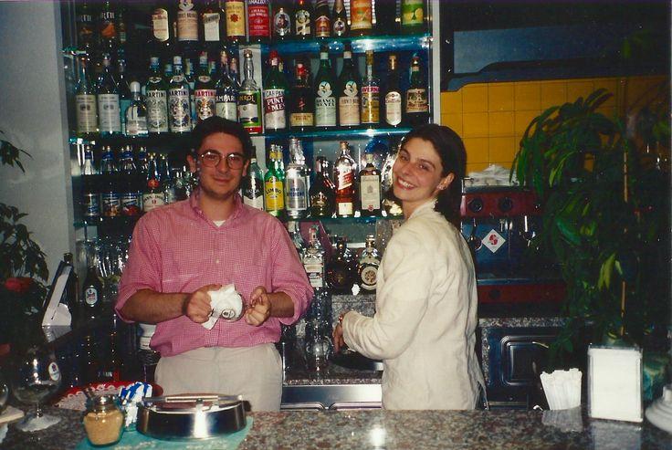 #HotelRudyCervia staff in the '90s: Domenico and Anna