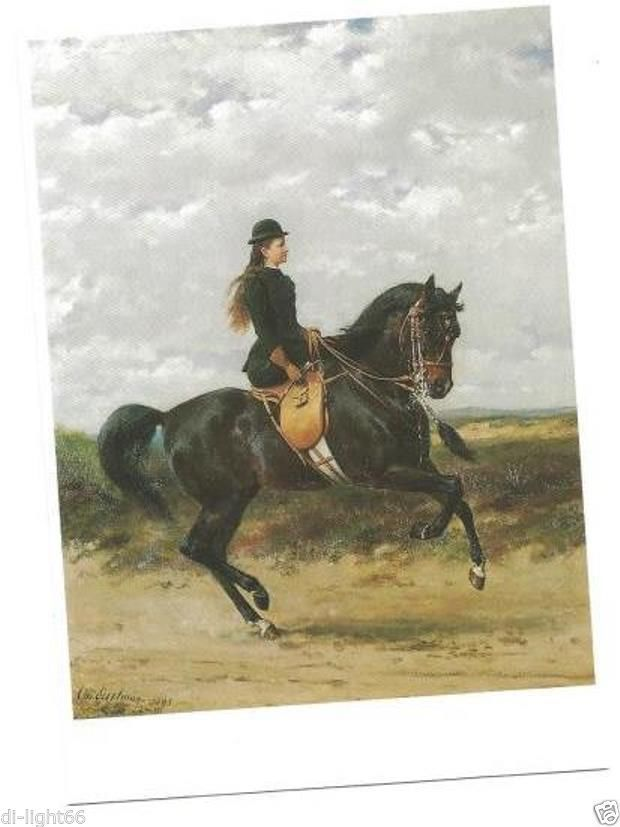 YOUNG 15-YEAR-OLD QUEEN of the Netherlands riding horse SIDESADDLE