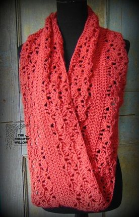 Rouge Infinity Scarf ~ free pattern ᛡ