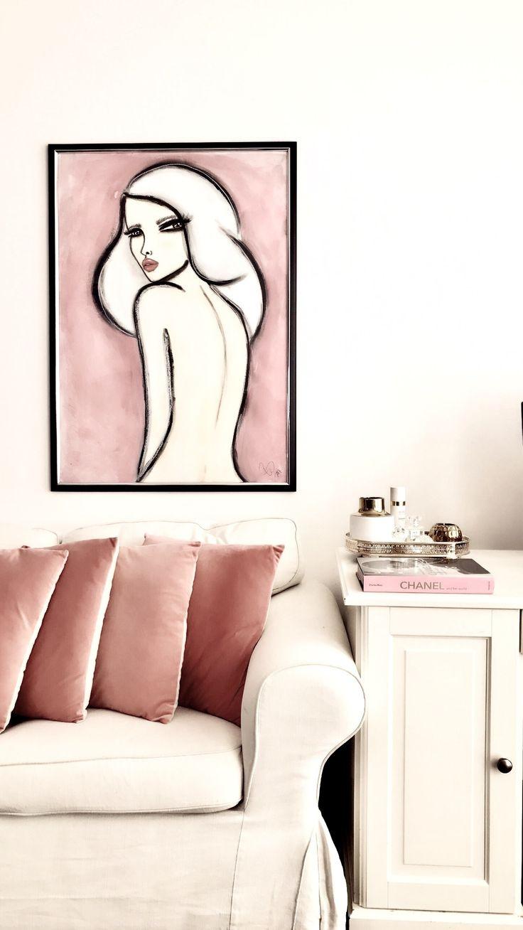 Vanity | Art by Wendy Buiter. This painting is 100x70cm