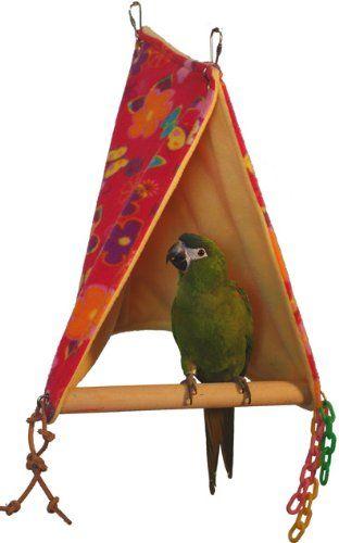 Amazon.com: Super Bird Creations Peekaboo Perch Tent, 18 by 12-Inch, Large Bird Toy: Pet Supplies