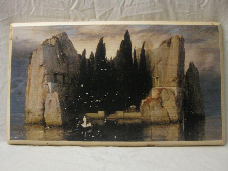 ISLE of the DEAD: Third version, wood board, wood wall art, Handmade wood print. Home decor, Renaissance Art di KnockOnWoodCraft su Etsy