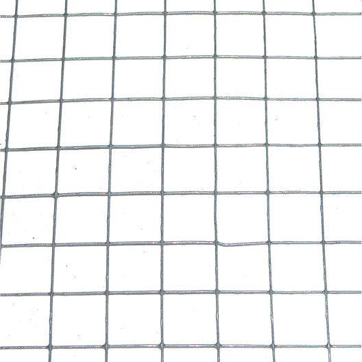 Grillage soudé gris H.1 x L.3 m, maille de H.19 x l.19 mm