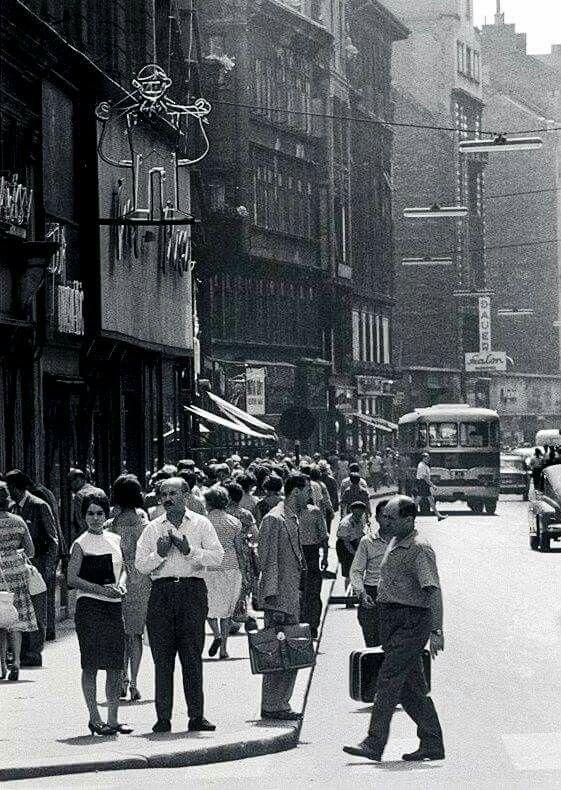 19601as évek. Váci utca.