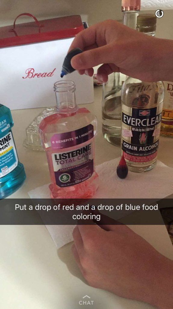 What everyone is also pretty aware of, is that it can be downright difficult to sneak your own booze in to avoid the ridiculous prices of pop-up bars when at a festival. All you need is some bottles of mouthwash and some food colouring.