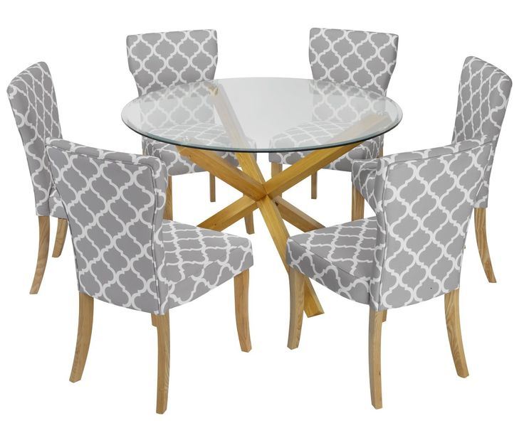The oporto freya dining set is a glass top round dining table with solid oak  leg American Drew Jessica Mcclintock The Boutique Glass Top Round  . Round Oak Dining Table Glass Top. Home Design Ideas