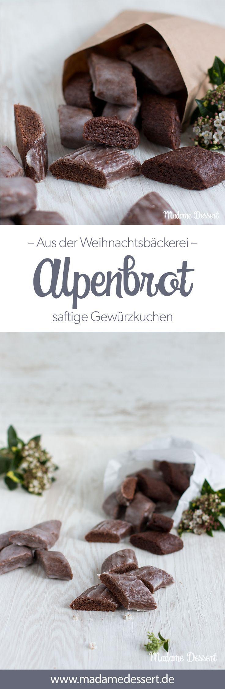 Alpenbrot – Das etwas andere Magenbrot Ein Rezept für alle, denen das klassische Magenbrot wie vom Weihnachtsmarkt zu zäh in der Konsistenz ist, gibt es die leckeren Gewürzkuchen jetzt in einer etwas abgewandelten Form. Das Alpenbrot enthält all die tollen Weihnachts-Gewürze ist allerdings etwas weicher und saftiger.