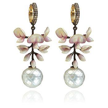 Wisteria chandelier earrings by Annoushka guest designer Ilgiz Fazulzyanov.