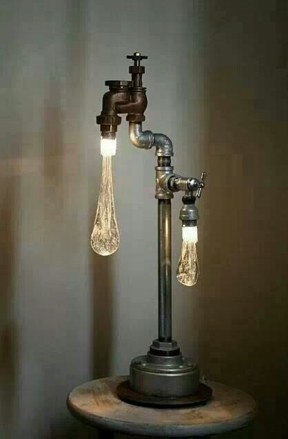 Lighting is a great way to bring in creativity. This fixture creates a statement and alters the viewers perspective. I love the illusion it creates of dripping water!