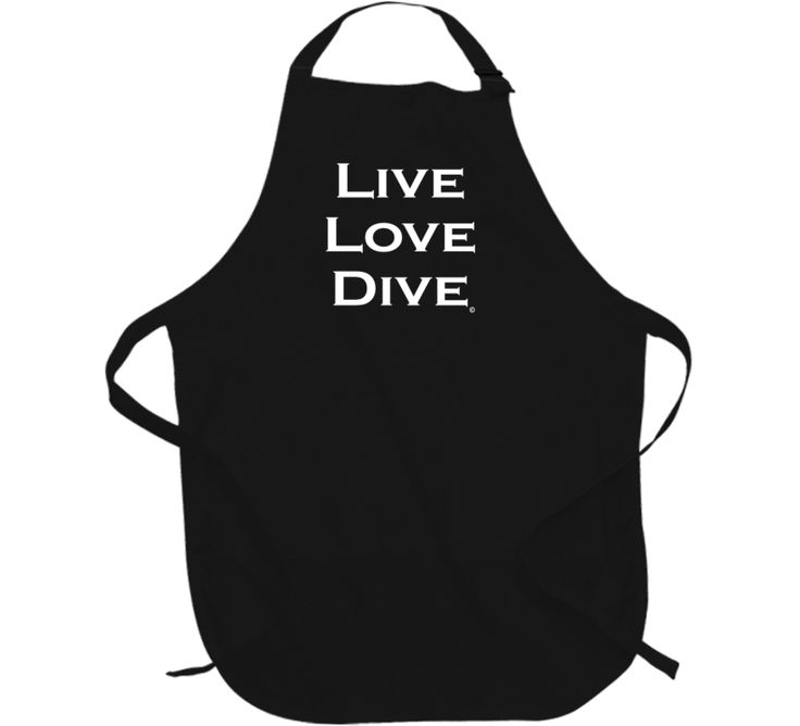 LIVE LOVE DIVE Scuba Diver Apron