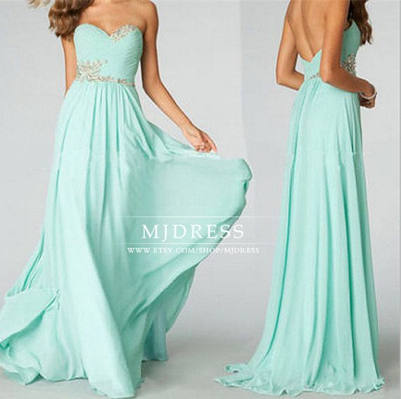 2014 New Tiffany Blue Bridesmaid Dress Sexy Sweetheart by MJDRESS