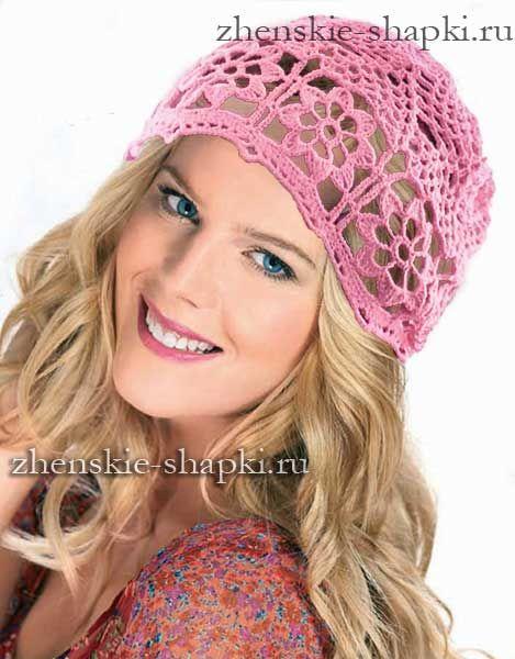 Летняя шапочка или схема вязания шапки для лета крючком