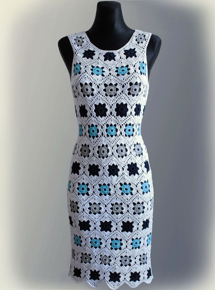 Dress. Crochet Pattern via Etsy.