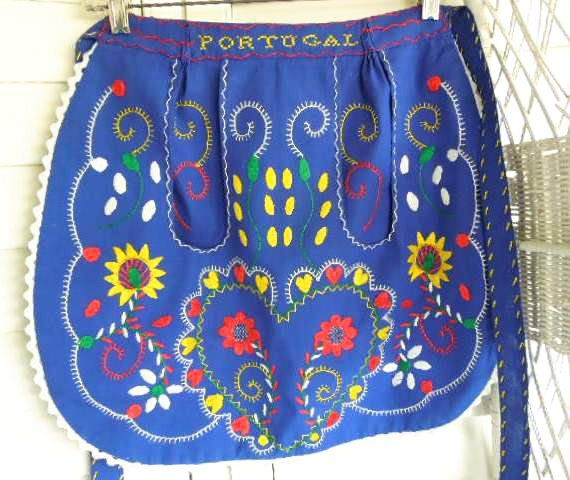 Vintage Portuguese Apron, Vintage Hand Embroidered Apron  http://www.etsy.com/listing/104960700/vintage-portuguese-apron-vintage-hand?ref=sr_gallery_44_search_query=apron_view_type=gallery_ship_to=US_explicit_scope=1_page=2_search_type=vintage