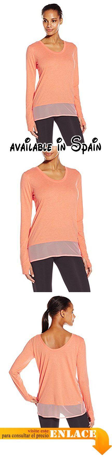 B0108OMCIU : adidas Performance mujer mixtos de la malla camiseta de manga larga Light Coverup - S16APW100 L Claro / rojo pastel . Fabricado para mayor comodidad.. Transpirabilidad. Fabricado para atletas