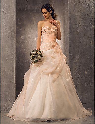 Lanting Bride® A-Linie / Prinzessin Extraklein / Übergrößen Hochzeitskleid - Klassisch & Zeitlos / Elegant & LuxuriösVintage 722156 2017 – €158.26