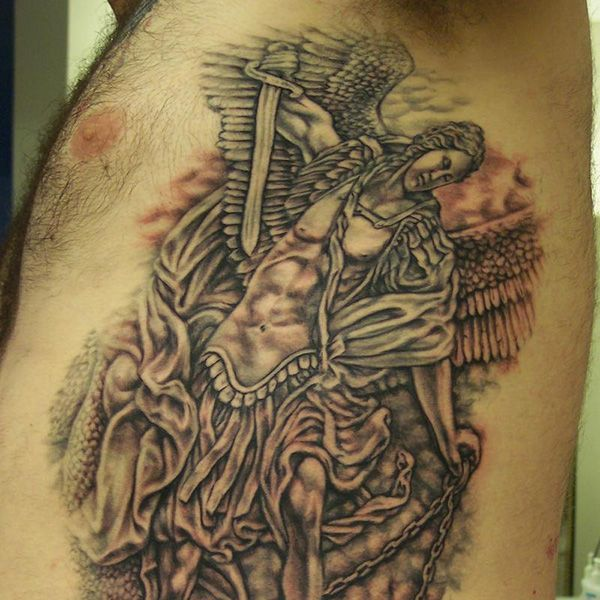 gabriel angel of death tattoo the image kid has it. Black Bedroom Furniture Sets. Home Design Ideas