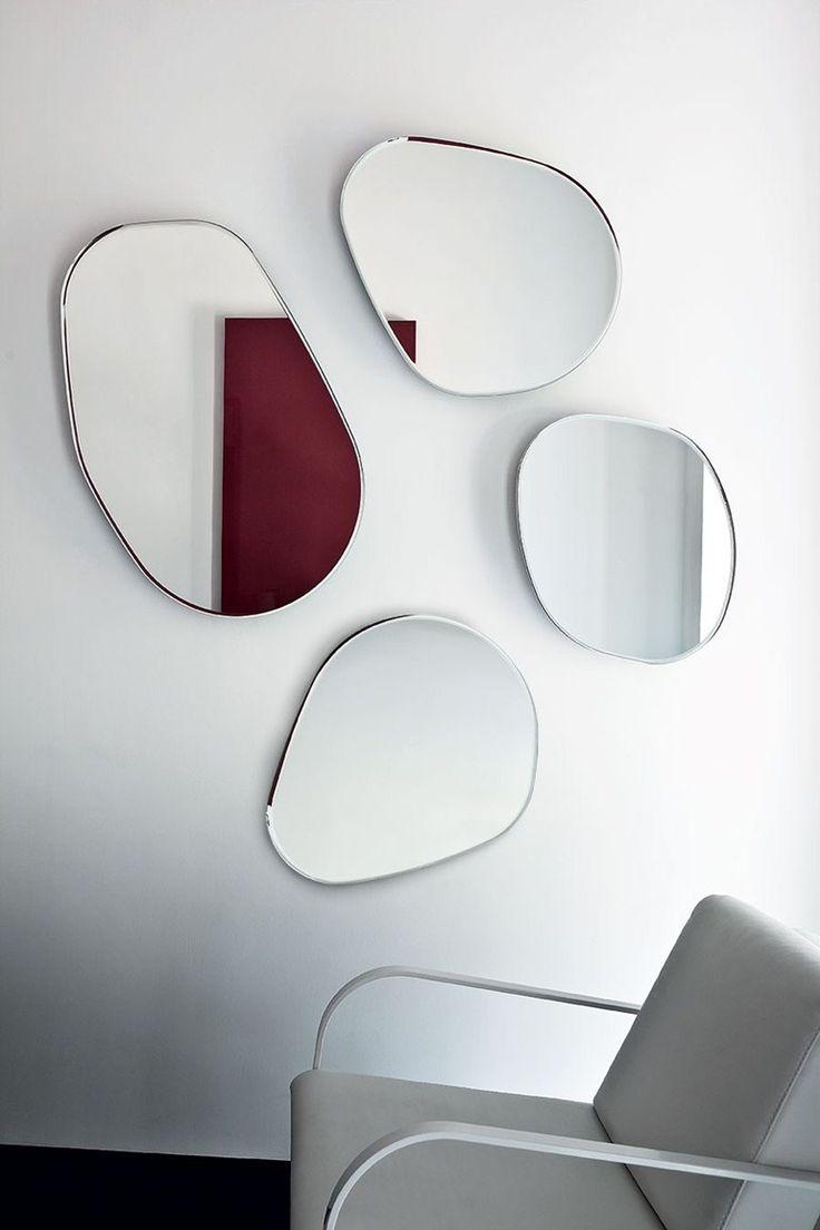 Wall-mounted #mirror GOCCE DI RUGIADA by SOVET ITALIA | #design Gianluigi Landoni @sovetitalia
