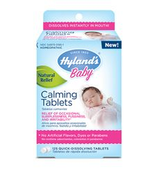 #HylandsBaby Calming Tablets: Babies get fussy. It's a natural response to being in a totally new world. Couple that with occasional sleeplessness, and you've got an irritable little person that needs natural calming medicine to settle his or her system. Baby Calming Tablets are the go-to, safe and effective solution that Moms depend on, day and night. It's formulated for newborns and toddlers alike. Go ahead – bring on the calm!