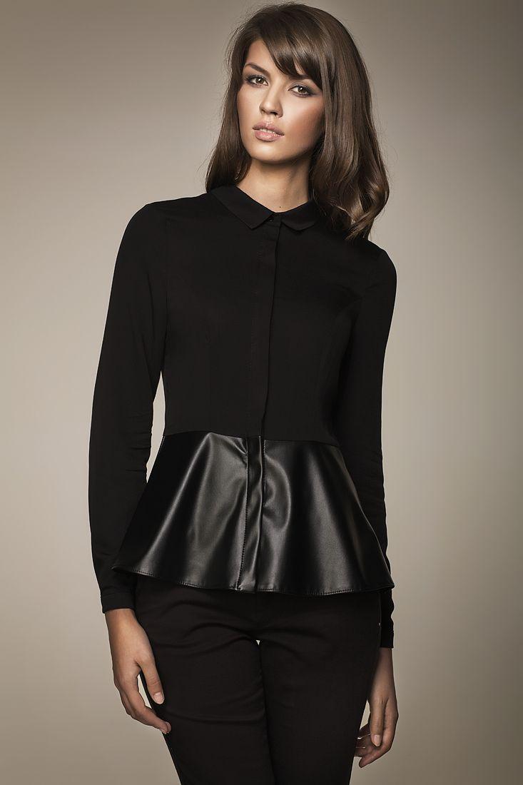 elegant black blouse by Misebla