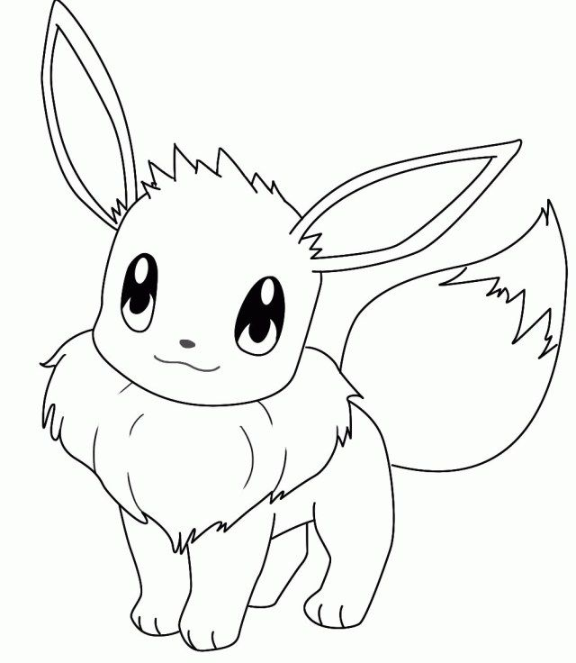 25 Great Picture Of Eevee Coloring Pages Pokemon Coloring Pages
