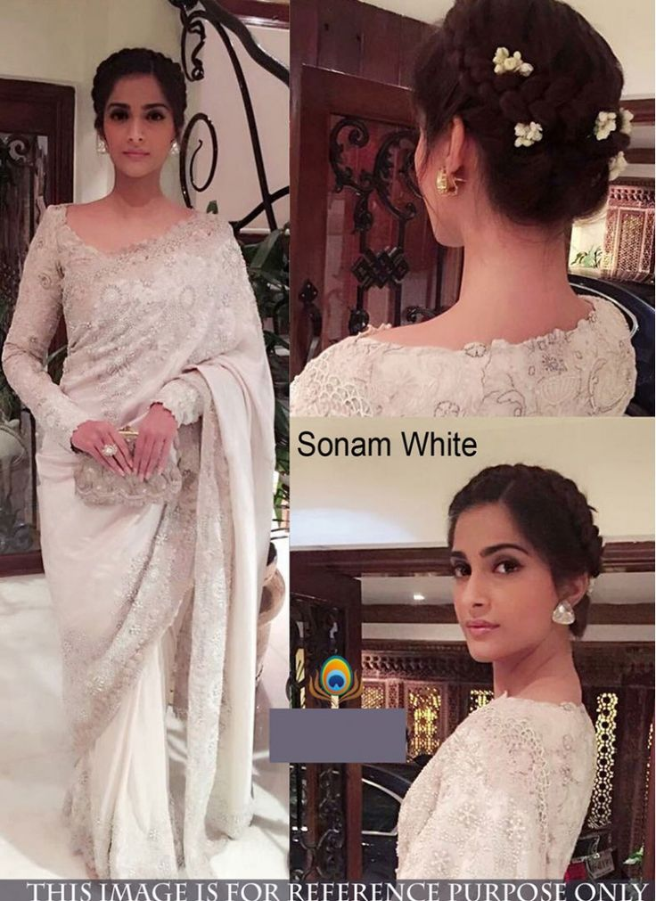 Pristine Sonam Kapoor Off White Bollywood Saree