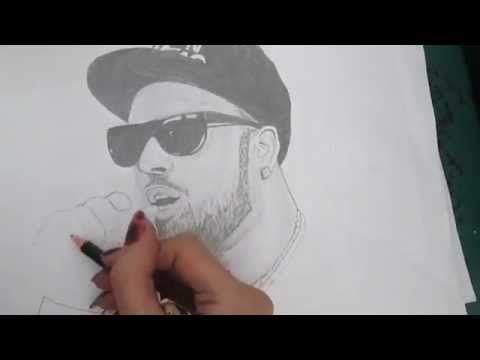 Imran Khan Singer Drawing - YouTube