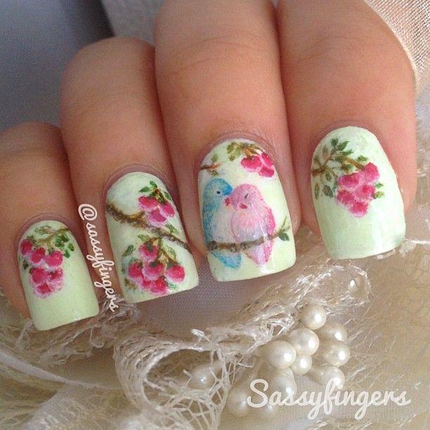 Instagram photo by sassyfingers --- so pretty #nail #nails #nailart