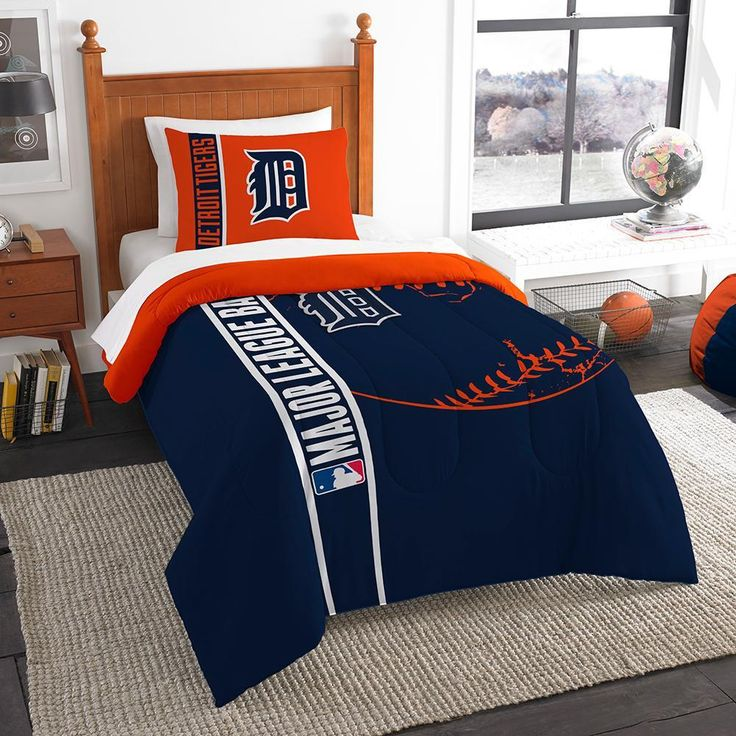 Detroit Tigers MLB Twin Comforter Set (Soft & Cozy) (64 x 86)