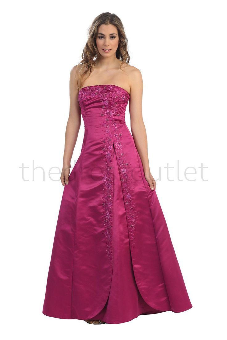 Long Bridesmaids Plus Size Formal Marine Ball Gown
