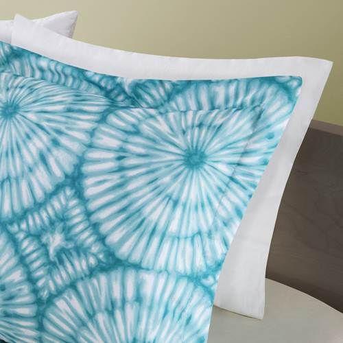 Mizone Nia Teal Comforter Set - Full-Queen (Tie Dye Medallion)