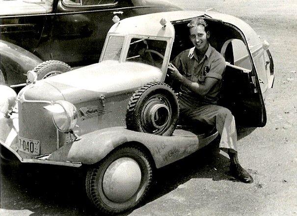 Cyclecars et voiturettes - Photos anciennes et d'autrefois, photographies d'époque en noir et blan