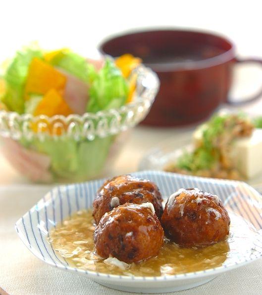 「ピリ辛肉団子」の献立・レシピ - 【E・レシピ】料理のプロが作る簡単レシピ/2007.06.17公開の献立です。