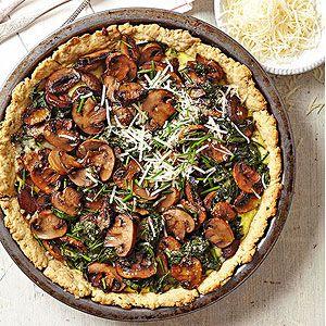 Roasted Mushroom, Spinach, and Ricotta Tart