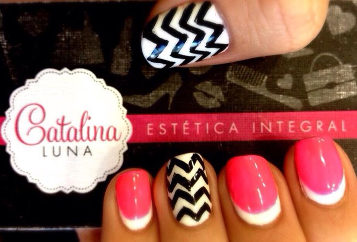 Nail art french chevron