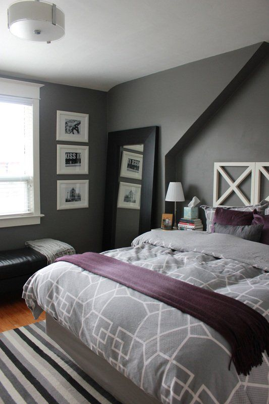 Adding Purple To Grey Bedroom Grey Duvet Purple Sheets
