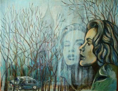Картины (живопись) : А за окном апрельские дожди