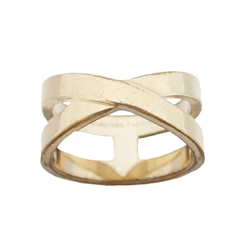 Hermes Metal Gold Scarf Ring