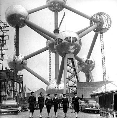 Atomium, Brussels, Belgium, built for Expo '58 by André Waterkeyn (1958)