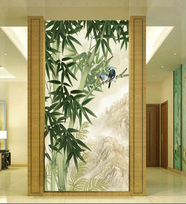 Cheap Diseño 3 d gran sala de estar del dormitorio sala de bambú corredor arce fondo de papel tapiz mural dibujo verde piso del baño, Compro Calidad Papel Pintado directamente de los surtidores de China:                   Torneiras eletras
