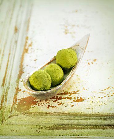 Matcha tea truffle