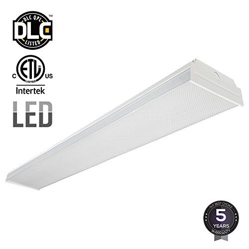 LEONLITE 4ft 40W LED Garage Shop Light Wraparound Flush Mount Ceiling Light, 100W Equiv. Ultra Bright 4000lm, Daylight 5000K for Laundry Rooms, Hallways, Offices, Workbenches #LEONLITE #Garage #Shop #Light #Wraparound #Flush #Mount #Ceiling #Light, #Equiv. #Ultra #Bright #Daylight #Laundry Rooms, Hallways, #Offices, Workbenches