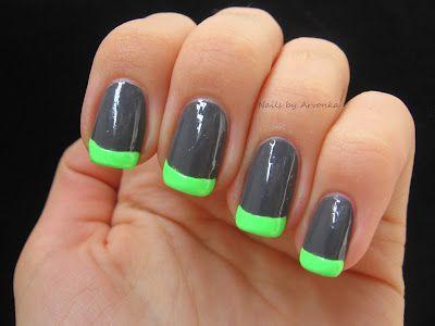 Nails by Arvonka: Neónová francúzska manikúra