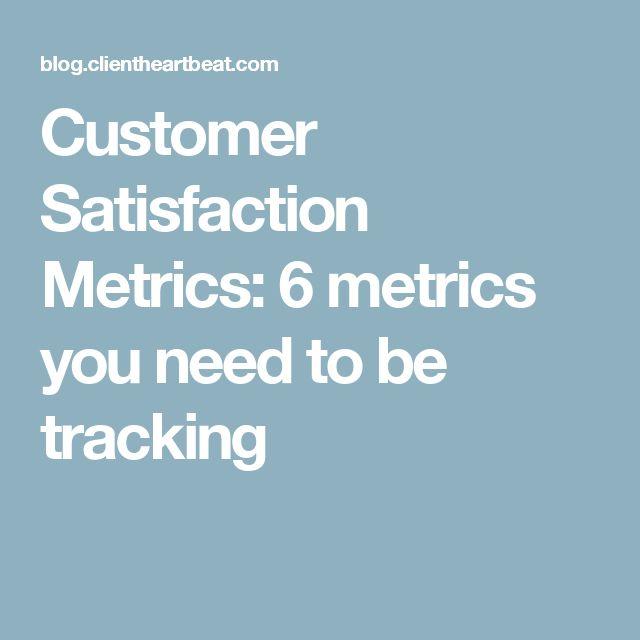 Customer Satisfaction Metrics: 6 metrics you need to be tracking