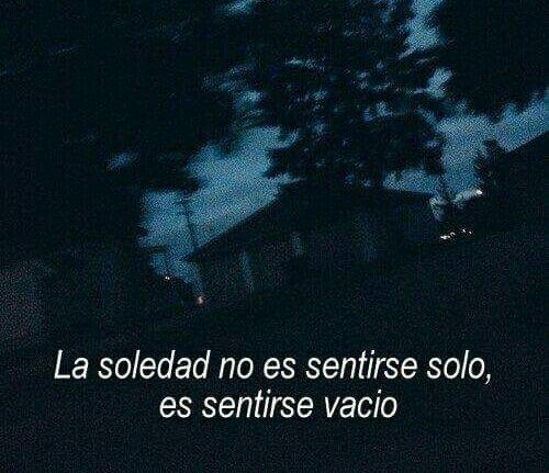 La soledad no es sentirse solo.