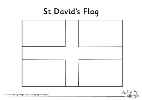 st davids flag colouring page