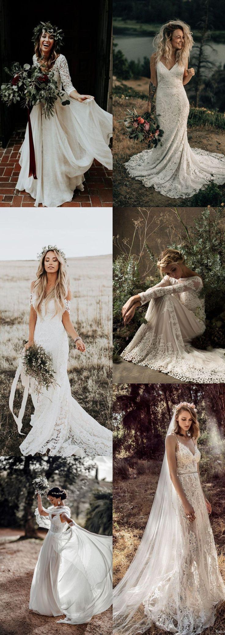 Ein Boho-Brautkleid ist eine wunderschöne und schicke Option für die Braut, die …   – Adrain wedding
